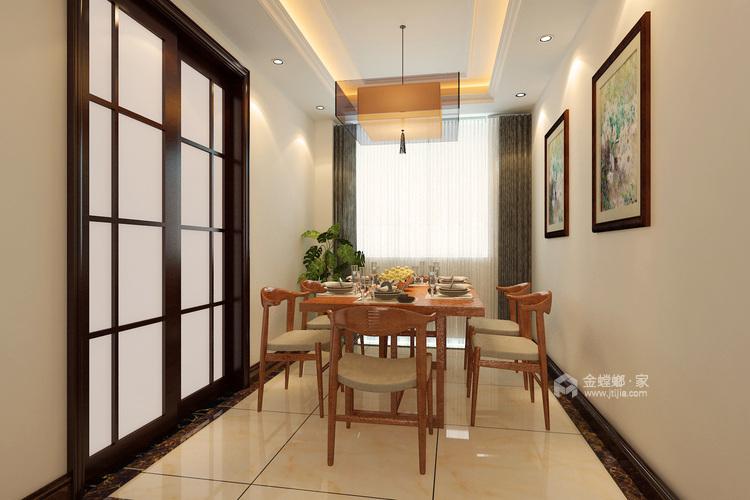 娴静 文雅 适合老年人居住的设计方案-餐厅效果图及设计说明