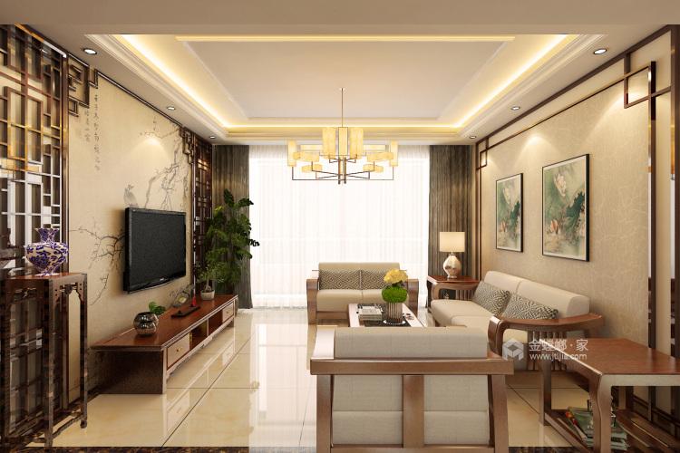 娴静 文雅 适合老年人居住的设计方案-客厅效果图及设计说明