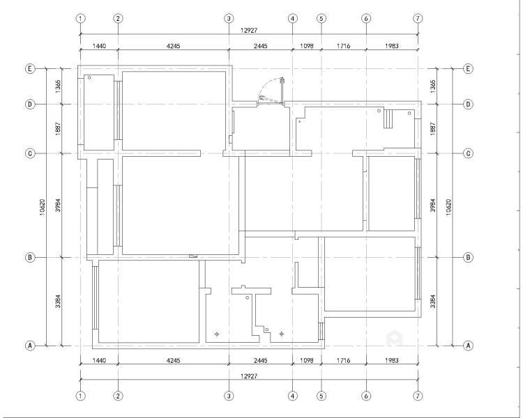 娴静 文雅 适合老年人居住的设计方案-业主需求&原始结构图