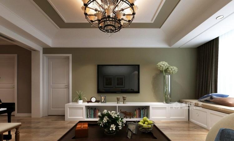 175平经典美式 开启精致生活-客厅效果图及设计说明