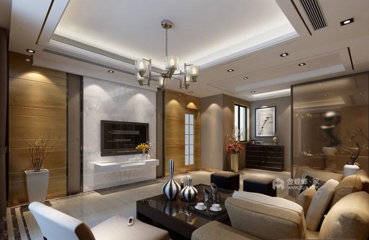 145平现代风 承载父母的爱-客厅效果图及设计说明