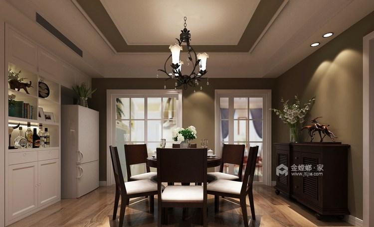175平经典美式 开启精致生活-餐厅效果图及设计说明