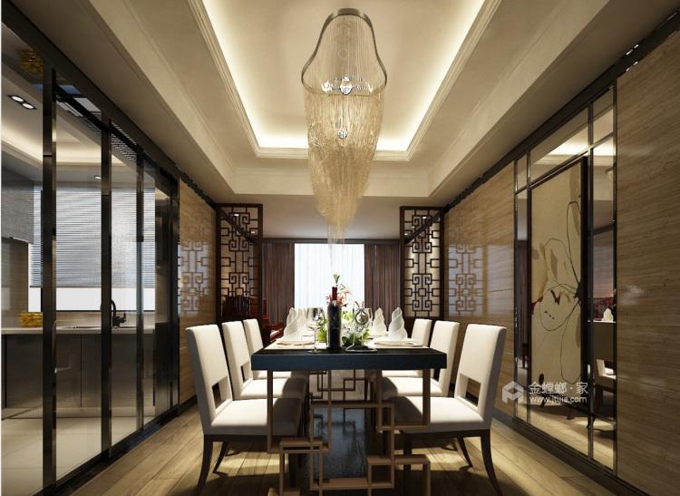 """80后颇具有""""科技感""""的中国居-餐厅效果图及设计说明"""