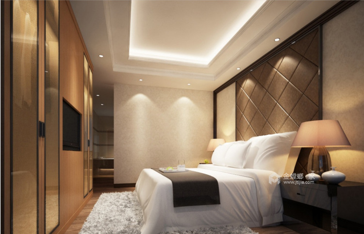 """80后颇具有""""科技感""""的中国居-卧室效果图及设计说明"""