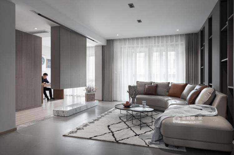 优雅灰色,享受轻奢-空间效果图