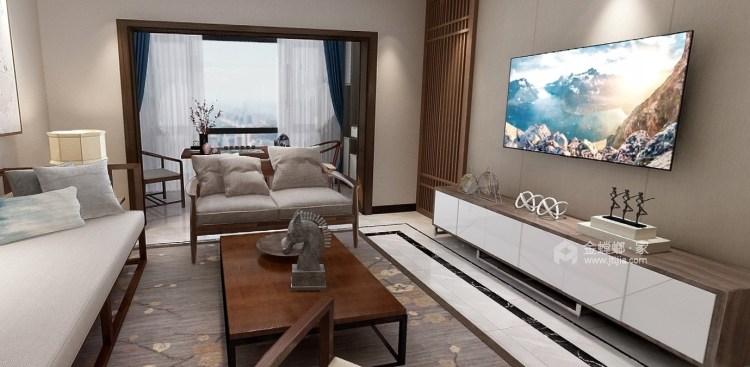 605公馆新中式-客厅效果图及设计说明