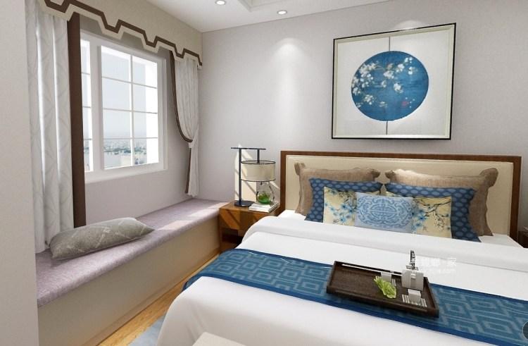 605公馆新中式-卧室效果图及设计说明
