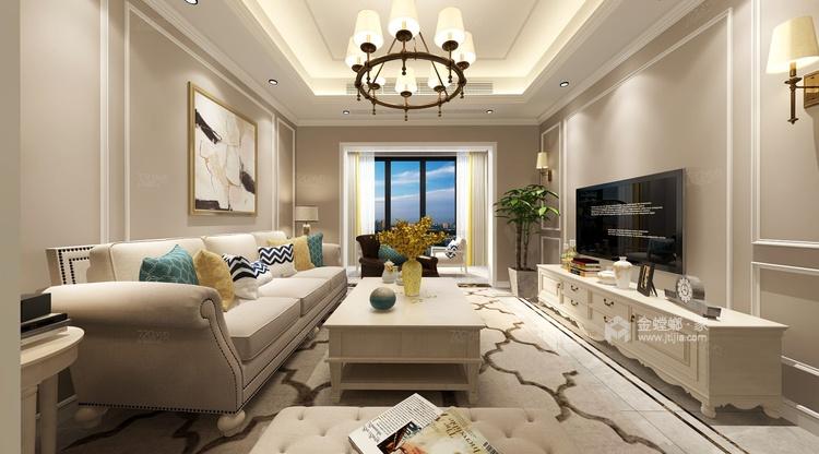 明亮大方的89平现代风,让生活每天多点新鲜感-客厅效果图及设计说明