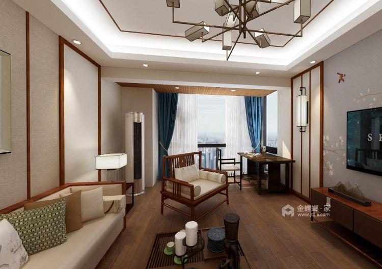 三居室新中式 展现清雅含蓄 端庄丰华的东方神韵