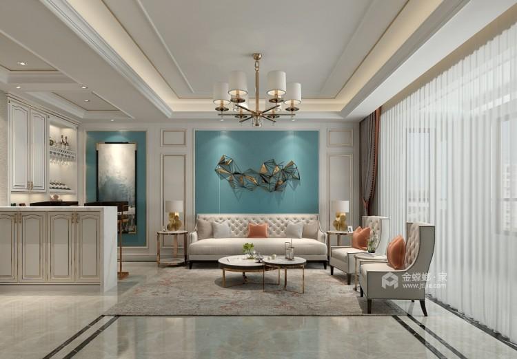 大气的简欧风,就这样装-客厅效果图及设计说明