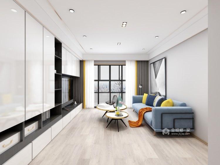 清风朗月一般灵动的现代主义简约情怀-客厅效果图及设计说明