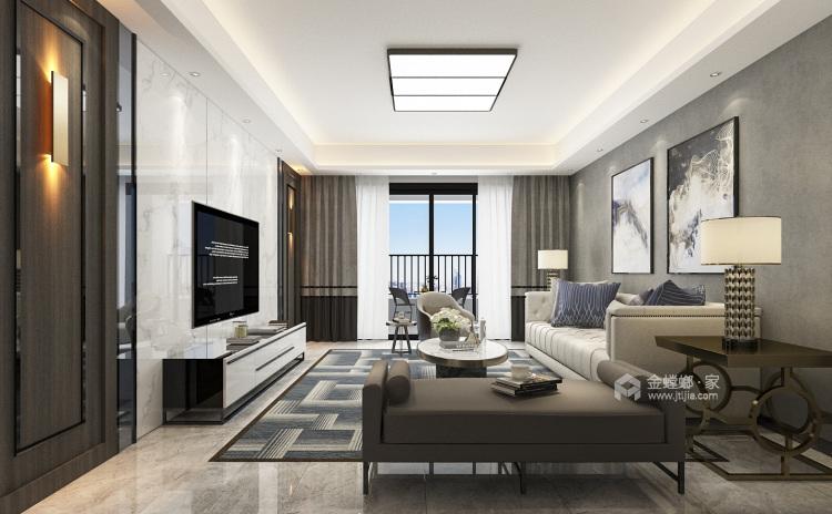 150平现代质感之家-空间效果图