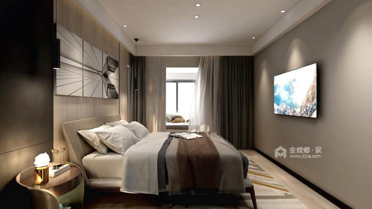 现代极简风,年轻人自由自在的艺术气息!-卧室效果图及设计说明