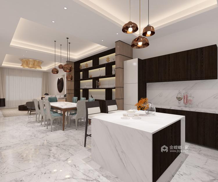 326㎡极简舒适品质生活-客厅效果图及设计说明