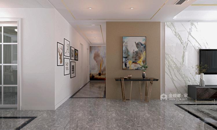 简约时尚大平层-客厅效果图及设计说明