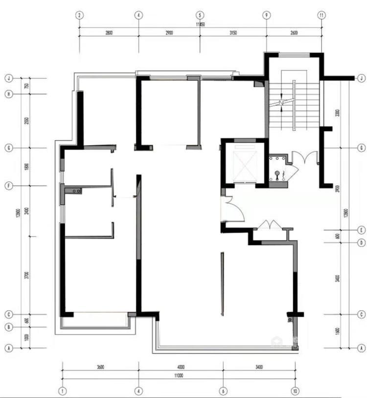 Tiffany blue:不一样的视觉冲击-业主需求&原始结构图