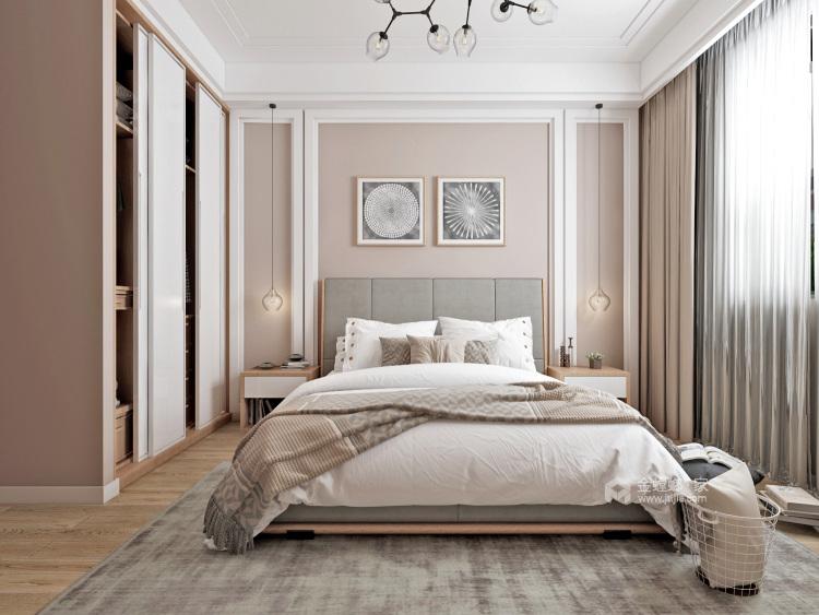 简约时尚大平层-卧室效果图及设计说明