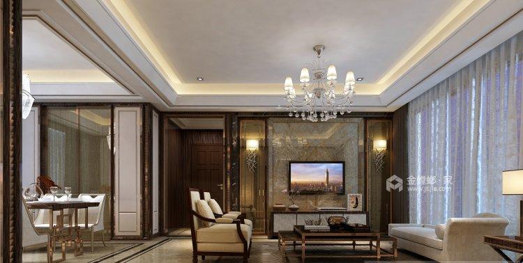130㎡丁香河畔欧式设计图-客厅效果图及设计说明