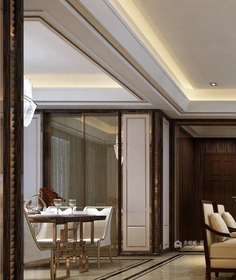 130㎡丁香河畔欧式设计图-餐厅效果图及设计说明