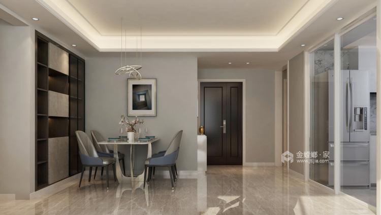 时尚、舒适、温馨的三口之家!-餐厅效果图及设计说明