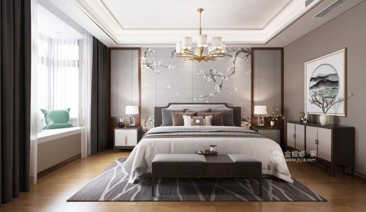 一抹惊艳,隐逸东方-卧室效果图及设计说明