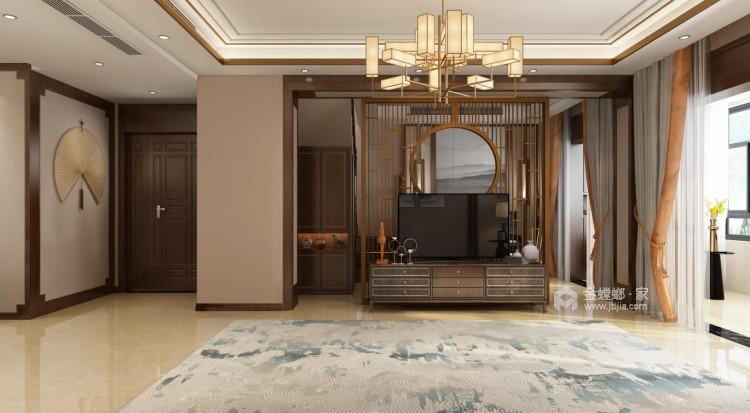 一抹惊艳,隐逸东方-客厅效果图及设计说明