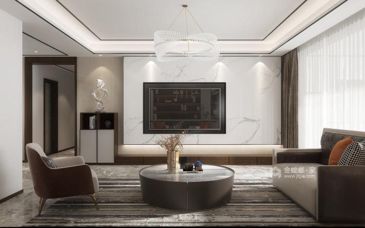 210㎡新中式设计,经久不衰的国粹传承-客厅效果图及设计说明
