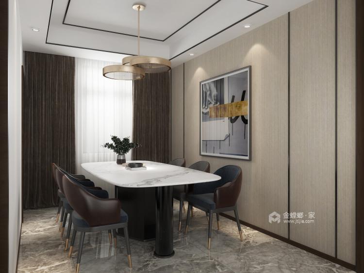 210㎡新中式设计,经久不衰的国粹传承-餐厅效果图及设计说明
