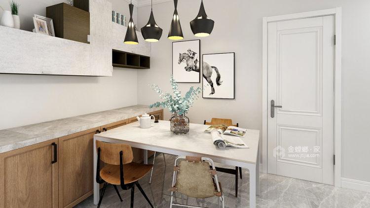 灰绿下的知性美宅-餐厅效果图及设计说明
