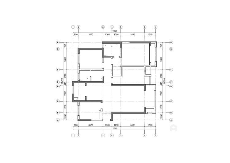 140平4室北欧之家 温情满满-业主需求&原始结构图