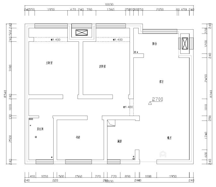 细节铸就品质,这个现代感的家太治愈!-业主需求&原始结构图