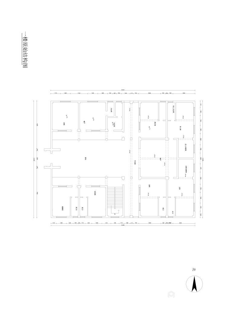 少林寺500平自建房装了多少钱?算算就知道-业主需求&原始结构图