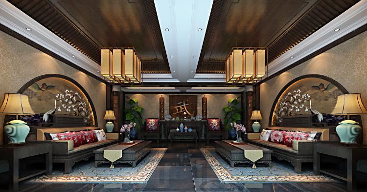少林寺500平自建房装了多少钱?算算就知道-客厅效果图及设计说明