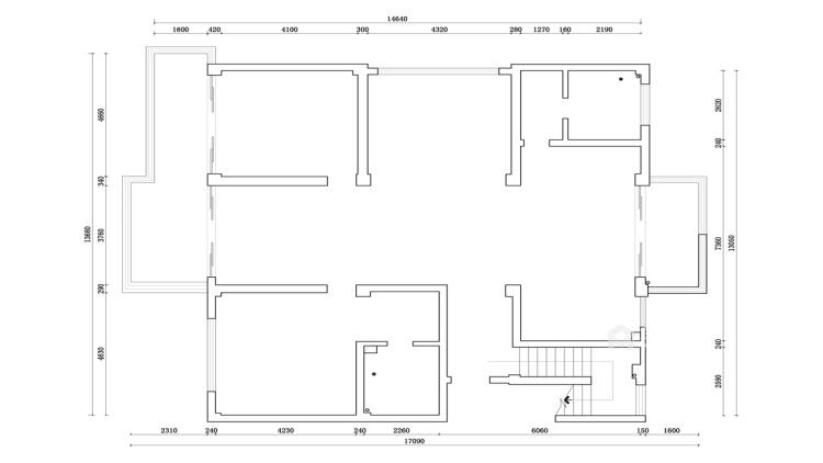 暖色调家居设计   无隔断,空间更透亮!-业主需求&原始结构图