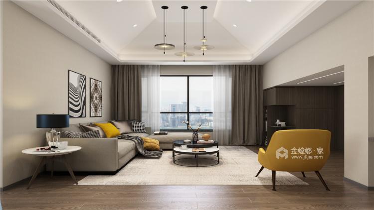 暖色调家居设计   无隔断,空间更透亮!-客厅效果图及设计说明