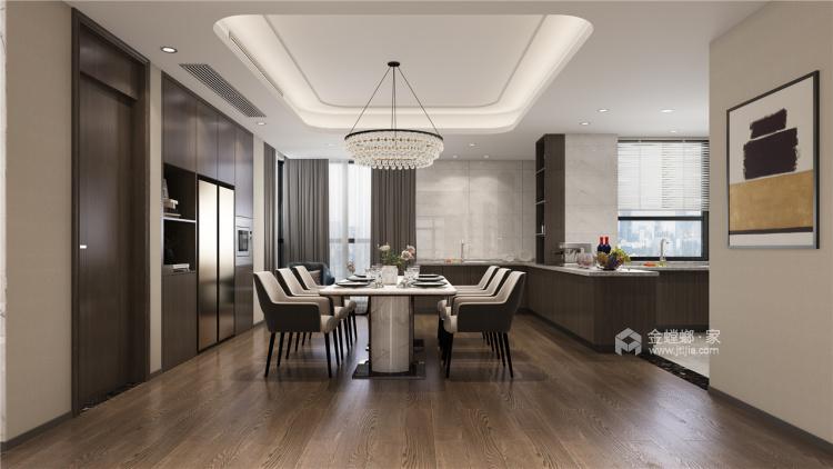 暖色调家居设计   无隔断,空间更透亮!-餐厅效果图及设计说明