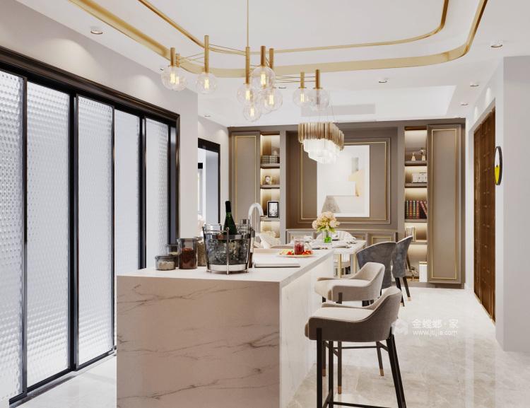 现代轻奢,低调的奢华-餐厅效果图及设计说明
