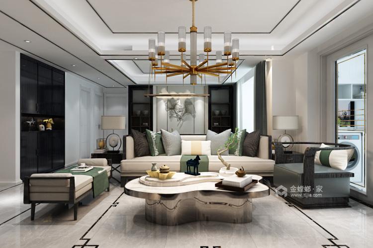 低调而精致的家,大概就是这个样子吧-客厅效果图及设计说明