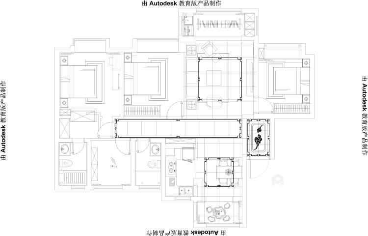 低调而精致的家,大概就是这个样子吧-平面设计图及设计说明
