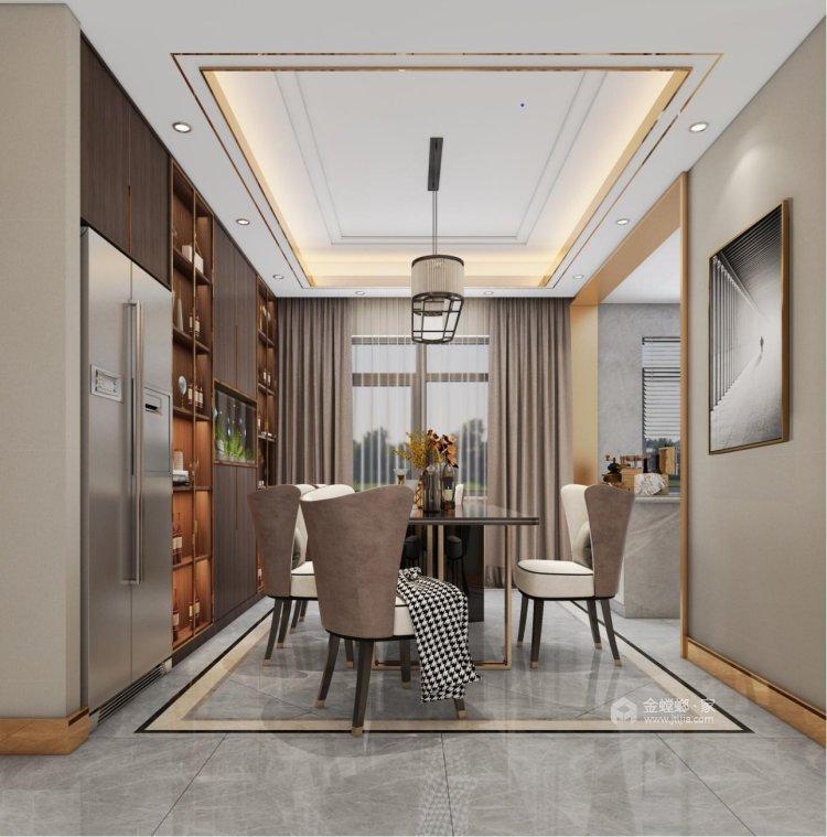 137㎡简洁大方三室,丰富的收纳让家更舒适-餐厅效果图及设计说明
