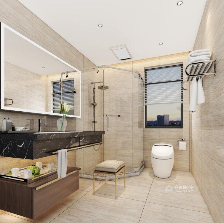 137㎡简洁大方三室,丰富的收纳让家更舒适-卫生间