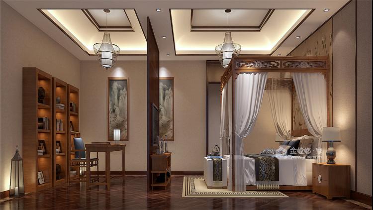 400平中式风,古朴精致的画面感!-卧室效果图及设计说明