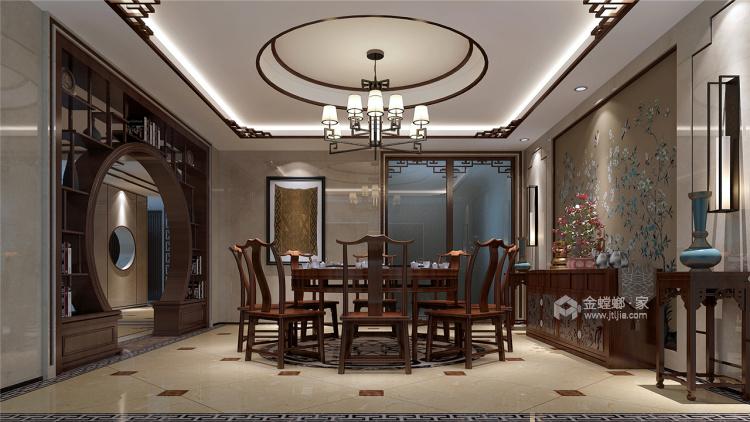 400平中式风,古朴精致的画面感!-餐厅效果图及设计说明