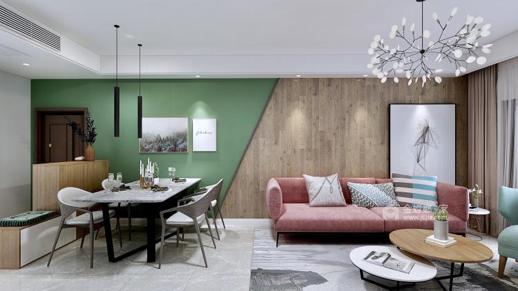 96平极简北欧风  年轻人温柔平静的小生活-餐厅效果图及设计说明