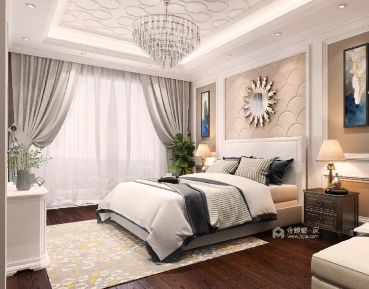 190㎡时尚欧式风 以梦为马、不负韶华-卧室效果图及设计说明