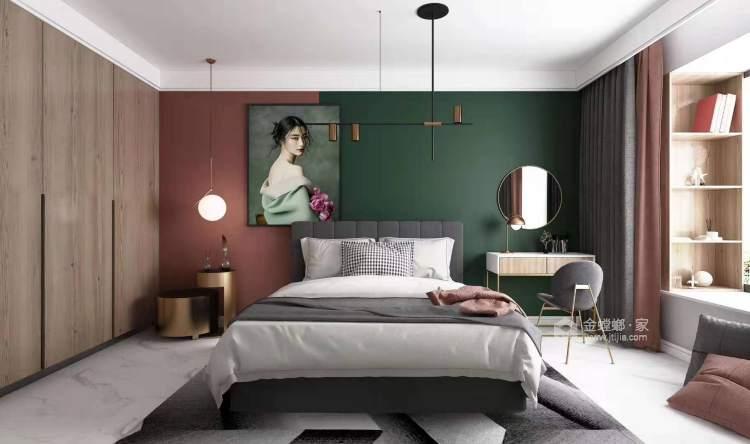 96平极简北欧风  年轻人温柔平静的小生活-卧室效果图及设计说明