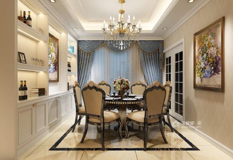 190㎡时尚欧式风 以梦为马、不负韶华-餐厅效果图及设计说明