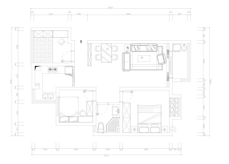 96平极简北欧风  年轻人温柔平静的小生活-平面设计图及设计说明