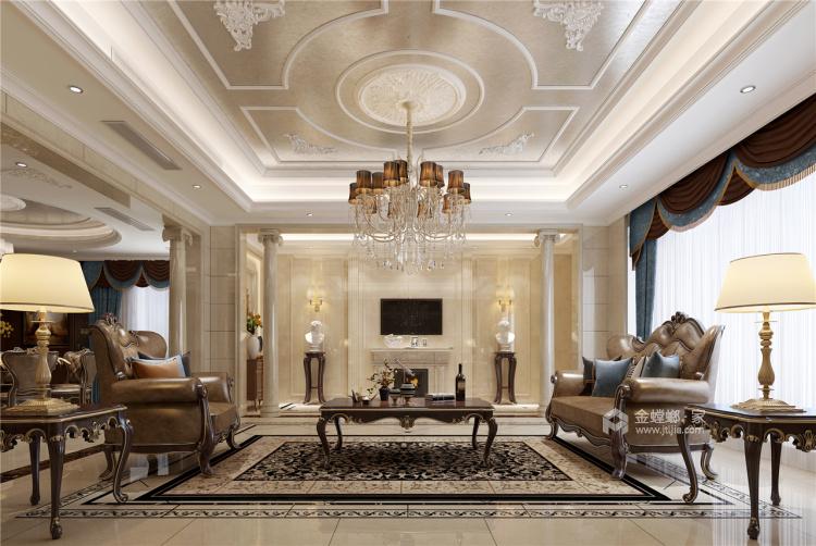 这个别墅欧式的家,你一秒就能爱上!-客厅效果图及设计说明