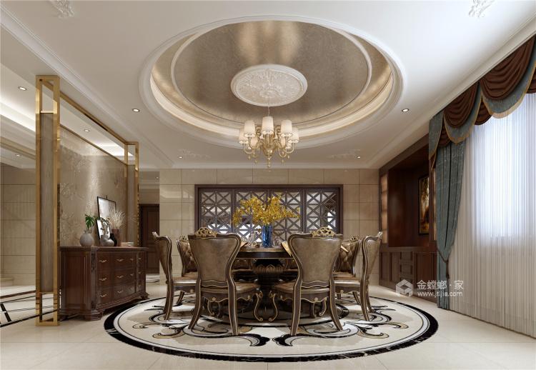 这个别墅欧式的家,你一秒就能爱上!-餐厅效果图及设计说明